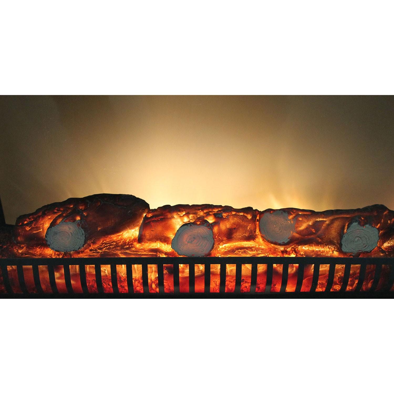 Elektrischer Kamin Elektrokamin Edelstahl Ofen mit LED Feuereffekt 1800W | eBay
