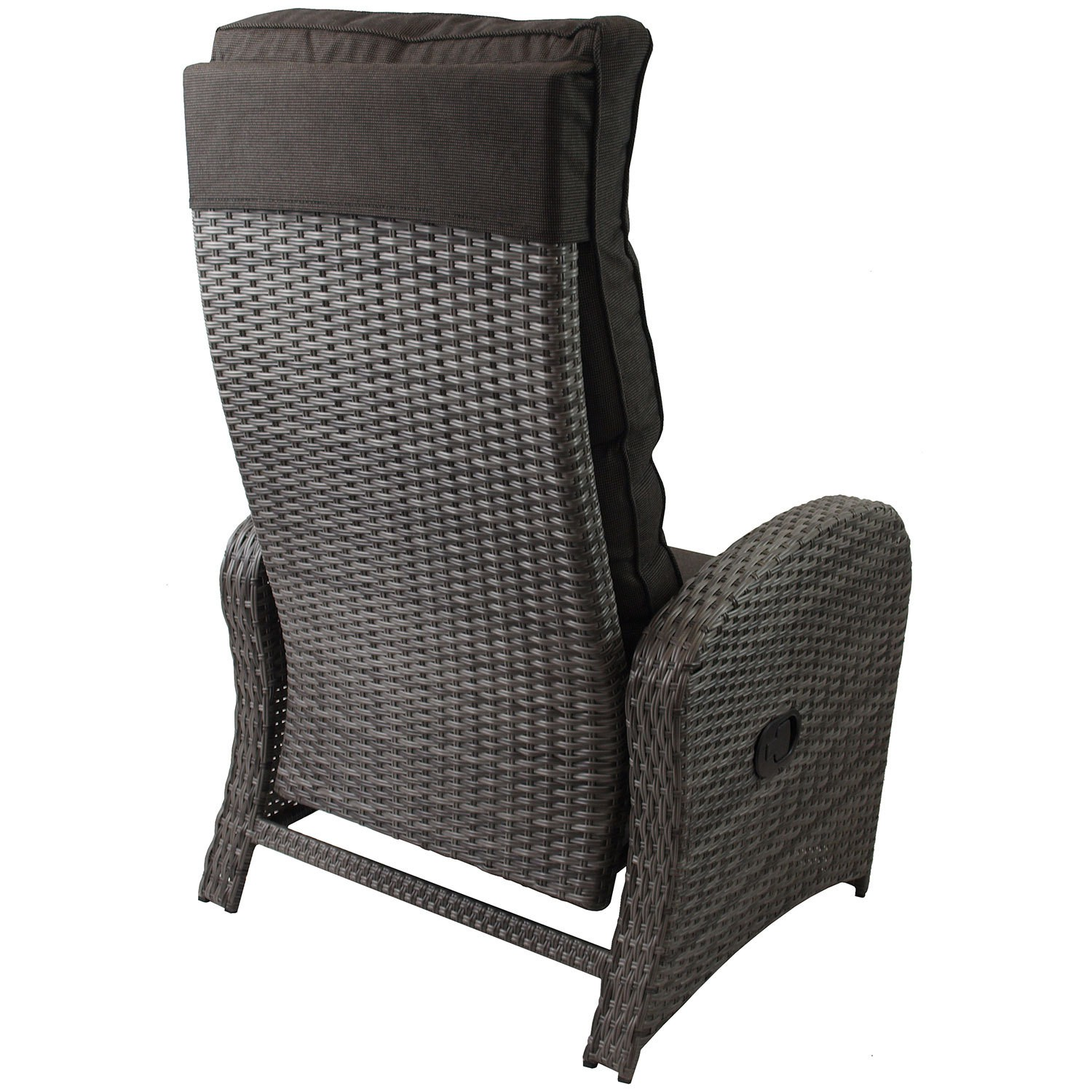 2X LOUNGE POLY RATTAN SESSEL GARTENSESSEL RELAXSESSEL GRAU + AUFLAGE ...